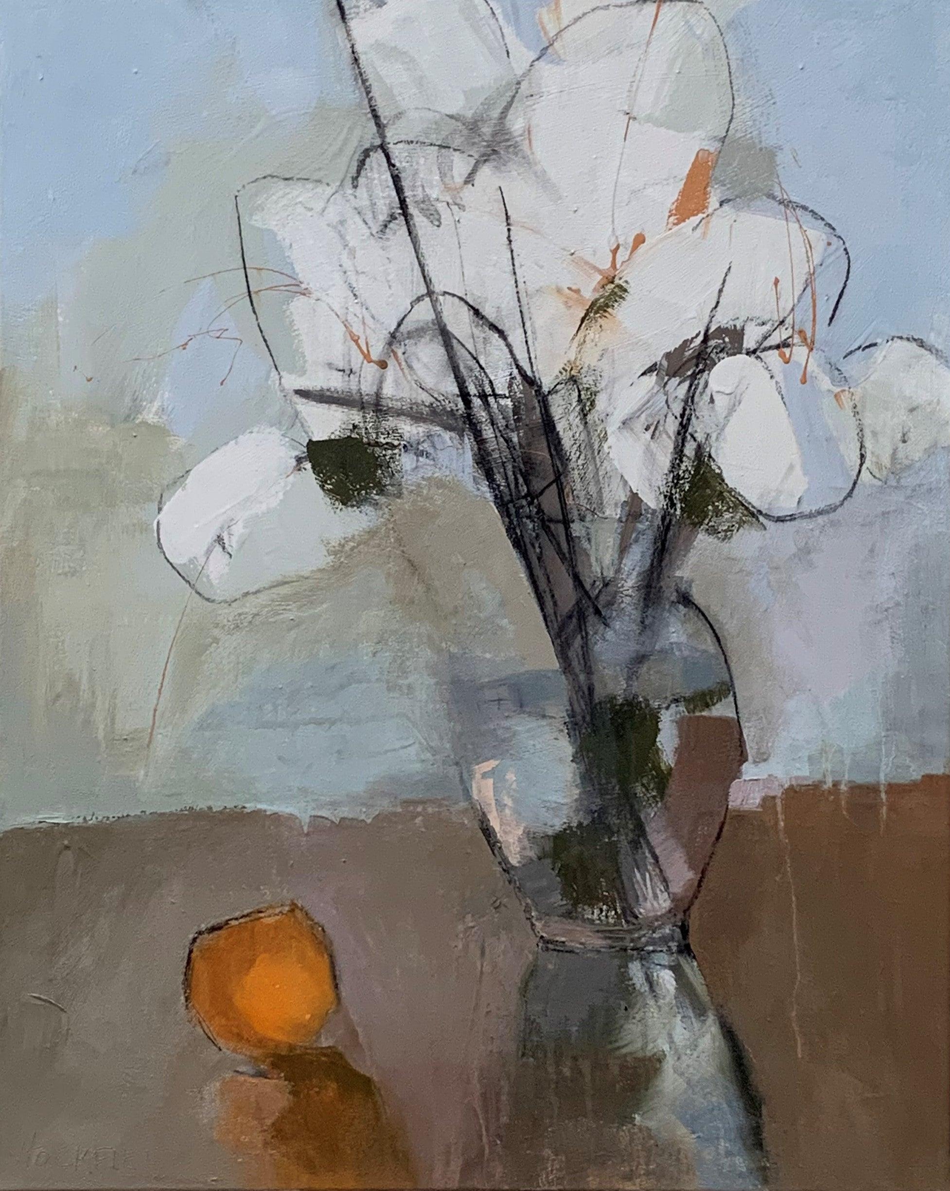 Janie's Hydrangeas by Sharon Hockfield, Contemporary Floral Still Life