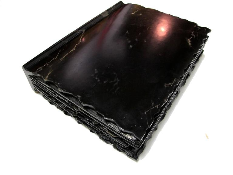 The Black Book by KARTEL - unique handcarved marble sculpture - smooth finished