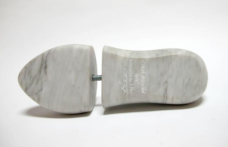 Shoe Last by KARTEL - unique handcarved marble sculpture -smooth finish 4