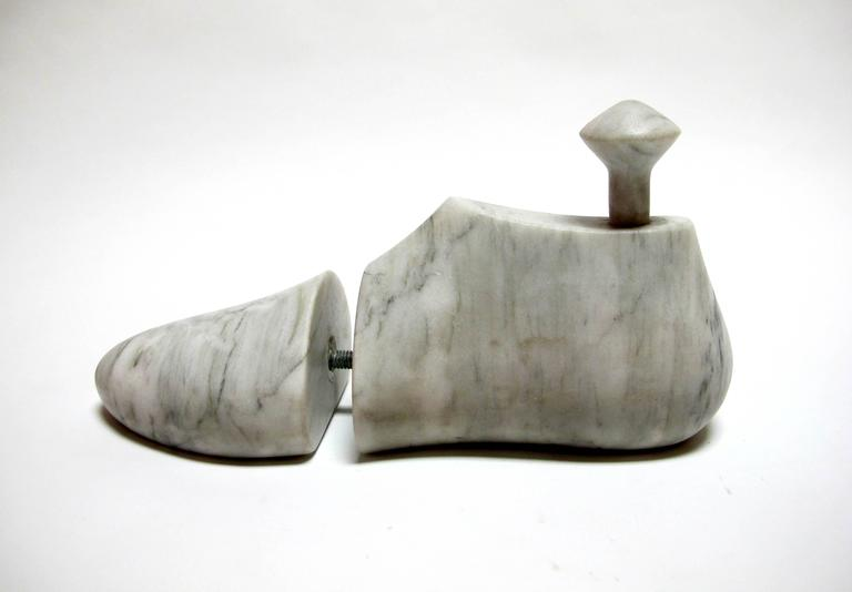 Shoe Last by KARTEL - unique handcarved marble sculpture -smooth finish 2