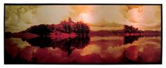 Fifi Clouds Red by Hugo G. Urrutia - mixed media photo on metal framed