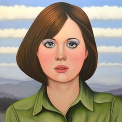 Sixteen by Jeff Chester, pop style realistic female poortrait, Oil in canvas