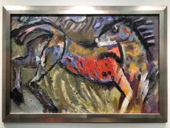 Wild Horse - figurative oil on linen, rich bold colors