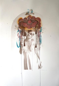 Venus by Rosie Emerson, hand painted silk screen, sexy portrait photography