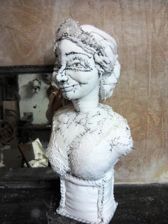 Princess Fabric Sculpture, whimsical and royal, by Anne Valérie Dupond