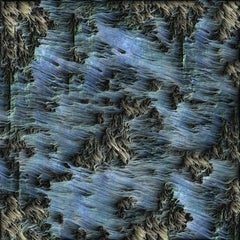 Air, contemporary artwork, computationally engraved on aluminum