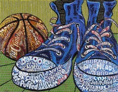 Still Life With Sneakers - Original - Part of Candy Wrapper Collage Series