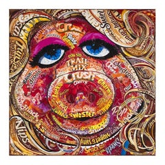 Miss Piggy - Original - Part of Candy Wrapper Collage Series