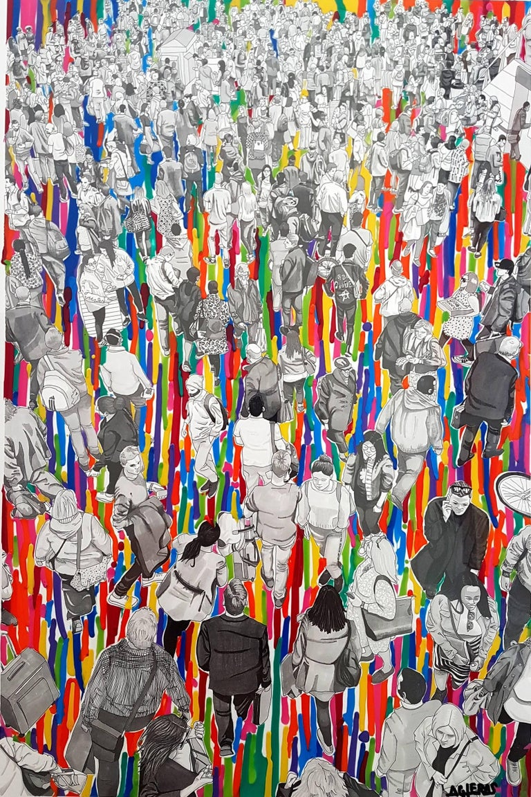 """""""People At The Station"""" (Colour Drips Version)"""