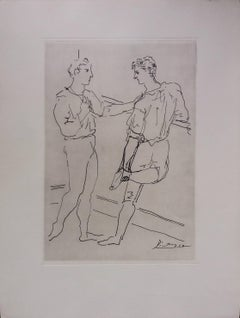 Pablo Picasso Original drawing engraved on copper 1/8 (1943)