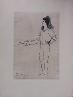Pablo Picasso original drawing engraved on copper 2/8 (1943)