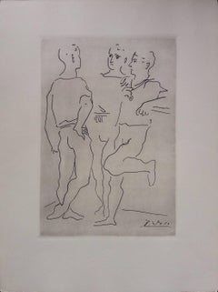 Pablo Picasso original drawing engraved on copper 3/8 (1943)