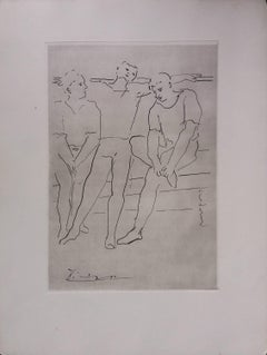 Pablo Picasso original drawing engraved on copper 4/8 (1943)