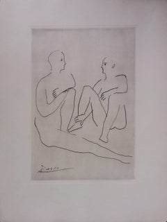 Pablo Picasso original drawing engraved on copper 5/8 (1943)