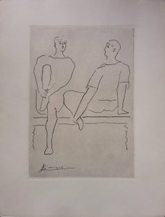 Pablo Picasso original drawing engraved on copper 6/8 (1943)