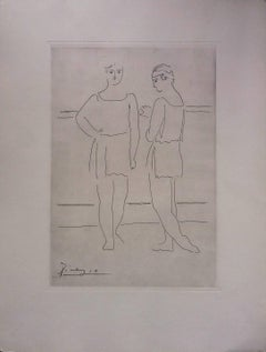 Pablo Picasso original drawing engraved on copper 8/8 (1943)