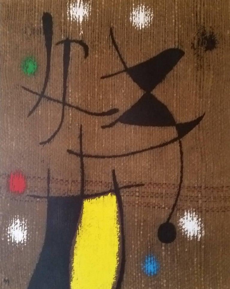"(after) Joan Miró Figurative Print - Femme et Oiseau 6/10: one plate from ""Femmes"""