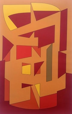 "Victor VASARELY - ""Abstraction 1"" - 1988"