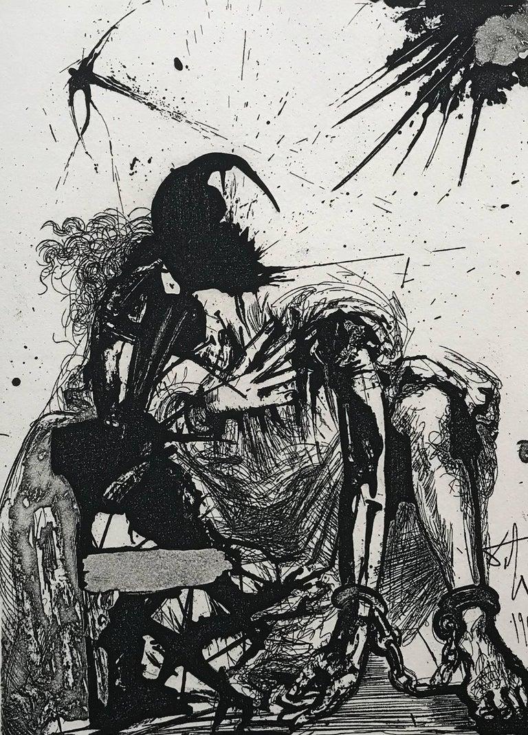 Salvador Dalí Figurative Print - Sigismond enchained