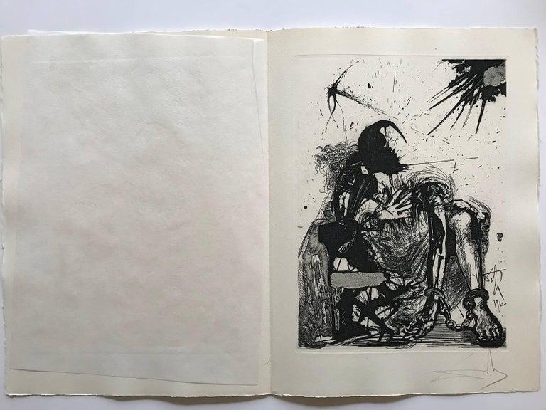 Sigismond enchained - Print by Salvador Dalí