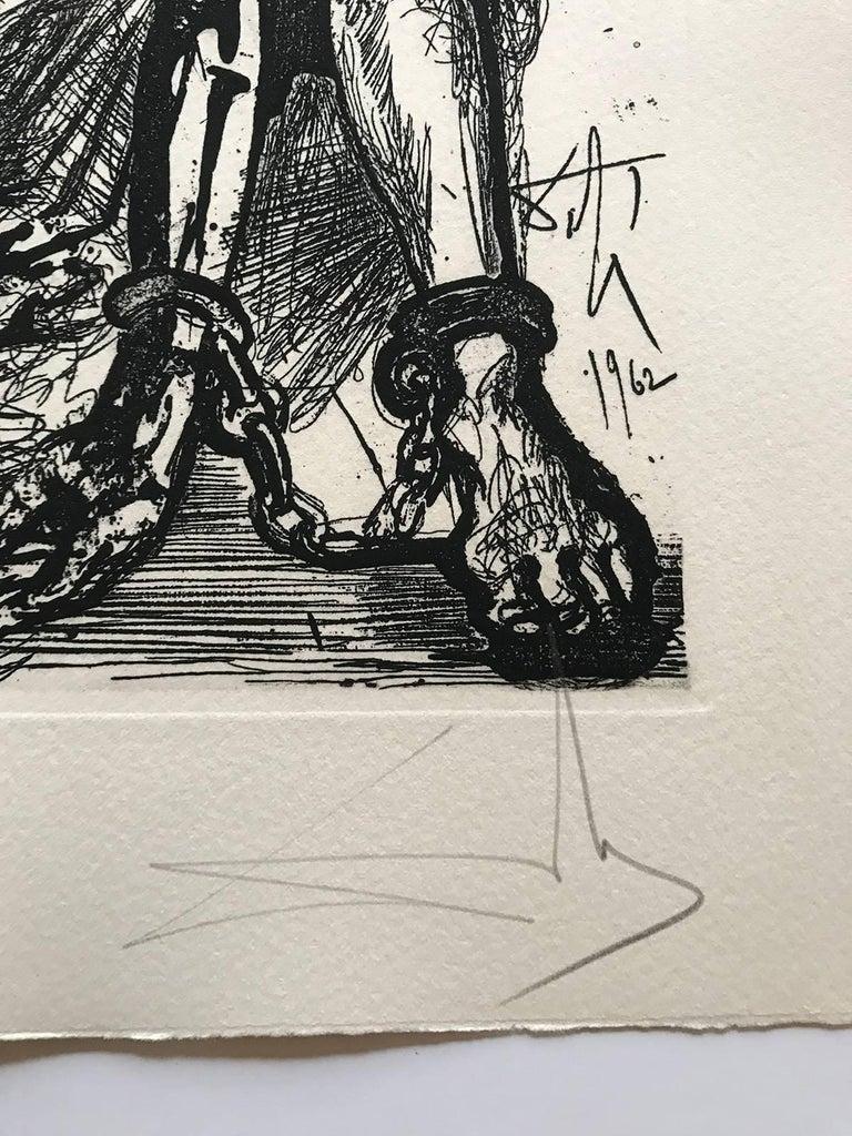 Sigismond enchained - Surrealist Print by Salvador Dalí