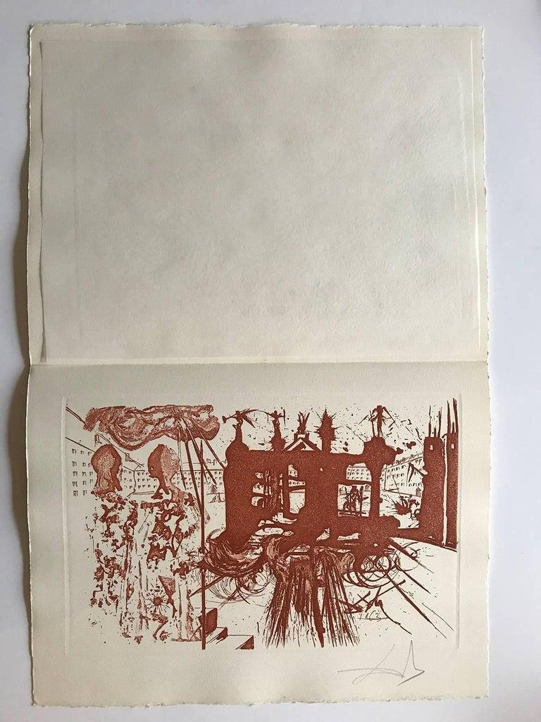 The Gantry (RS) - Print by Salvador Dalí