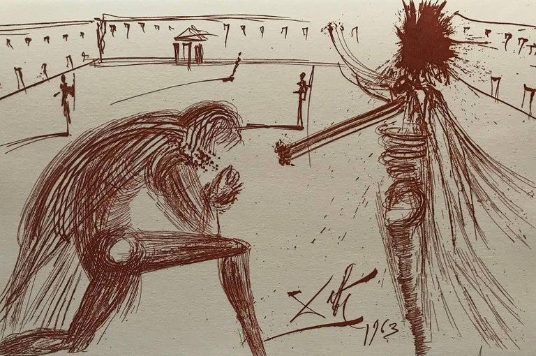 Salvador Dalí Figurative Print - The forgiveness of Father RS