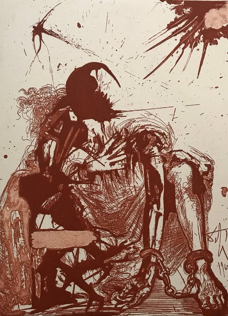Salvador Dalí Figurative Print - Sigismond enchained RS