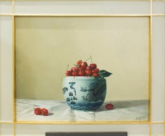 Cherries, Oil on canvas by Zhang Wei Guang