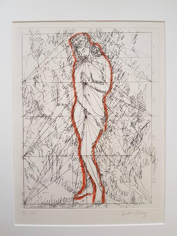 Man Ray Figurative Print - Woman in Landscape