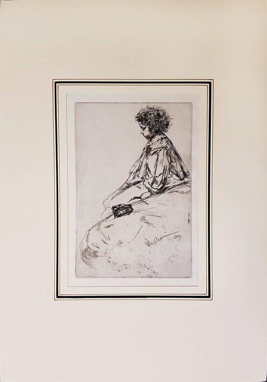 Bibi Lalouette - Original Etching by James Whistler - 1959 For Sale 1