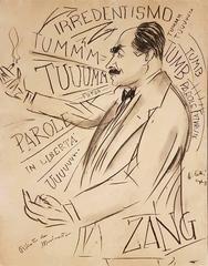 Portrait of Filippo Tommaso Marinetti
