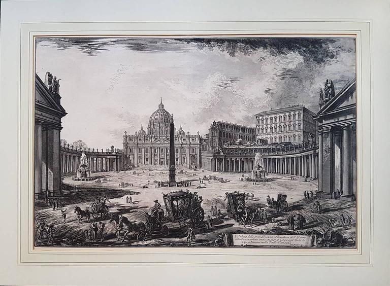Veduta della Gran Piazza e Basilica di San Pietro