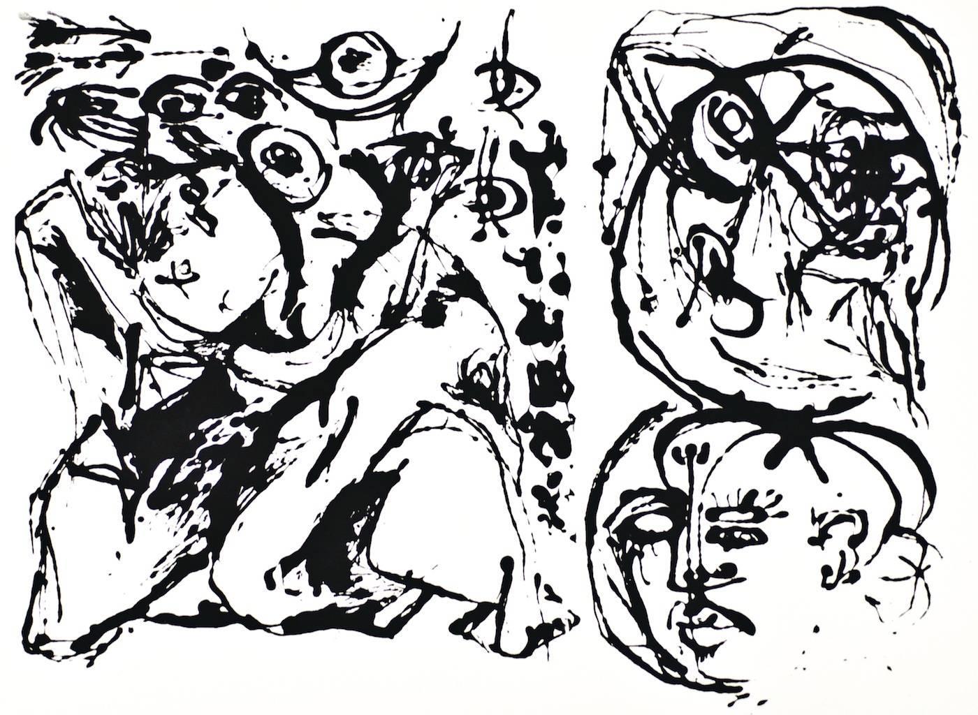 Untitled - Original Screen Print After Jackson Pollock - 1964