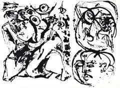 Untitled - Original Screen Print After Jackson Pollock - 1964