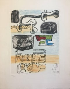 Untitled - Original Etching by Le Corbusier - 1953