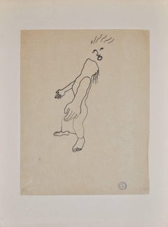 Divinity - III - Original China Ink Drawing by Jean Cocteau - 1925 ca.