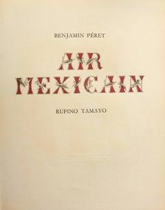Air Mexicain - Original Artist Book By Rufino Tamayo - 1952
