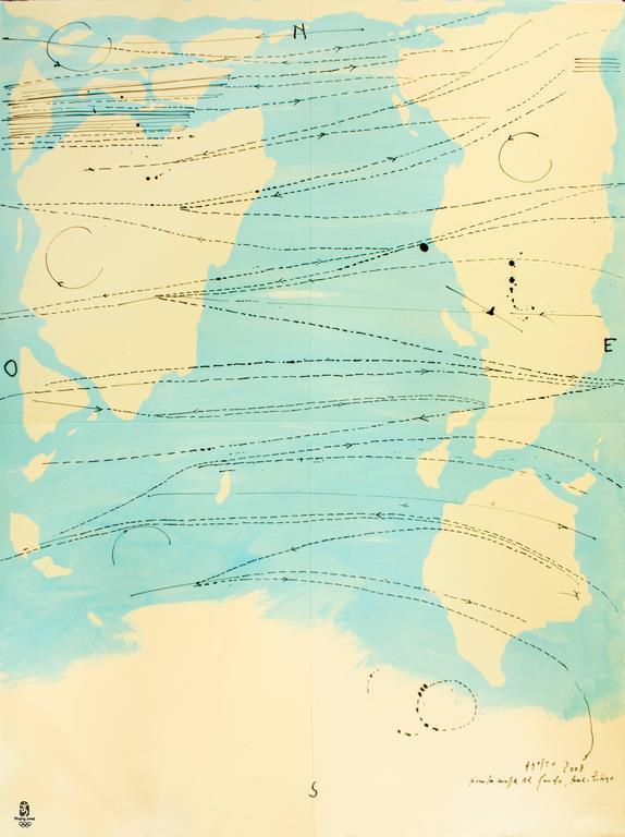 Piero Pizzi Cannella Little World Map Rome Peking Olympic Games