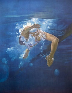 Swimmer, Olympic Games Beijing 2008 - Original Lithograph by Kim Hyang