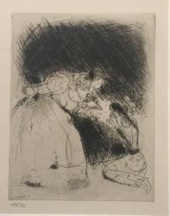 """La Femme du Gouverneur gronde sa fille - From the series """"Les Ames Mortes"""""""