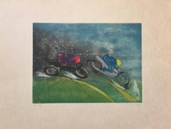"Motorcycle racing - from  the series ""Les Transesports"""