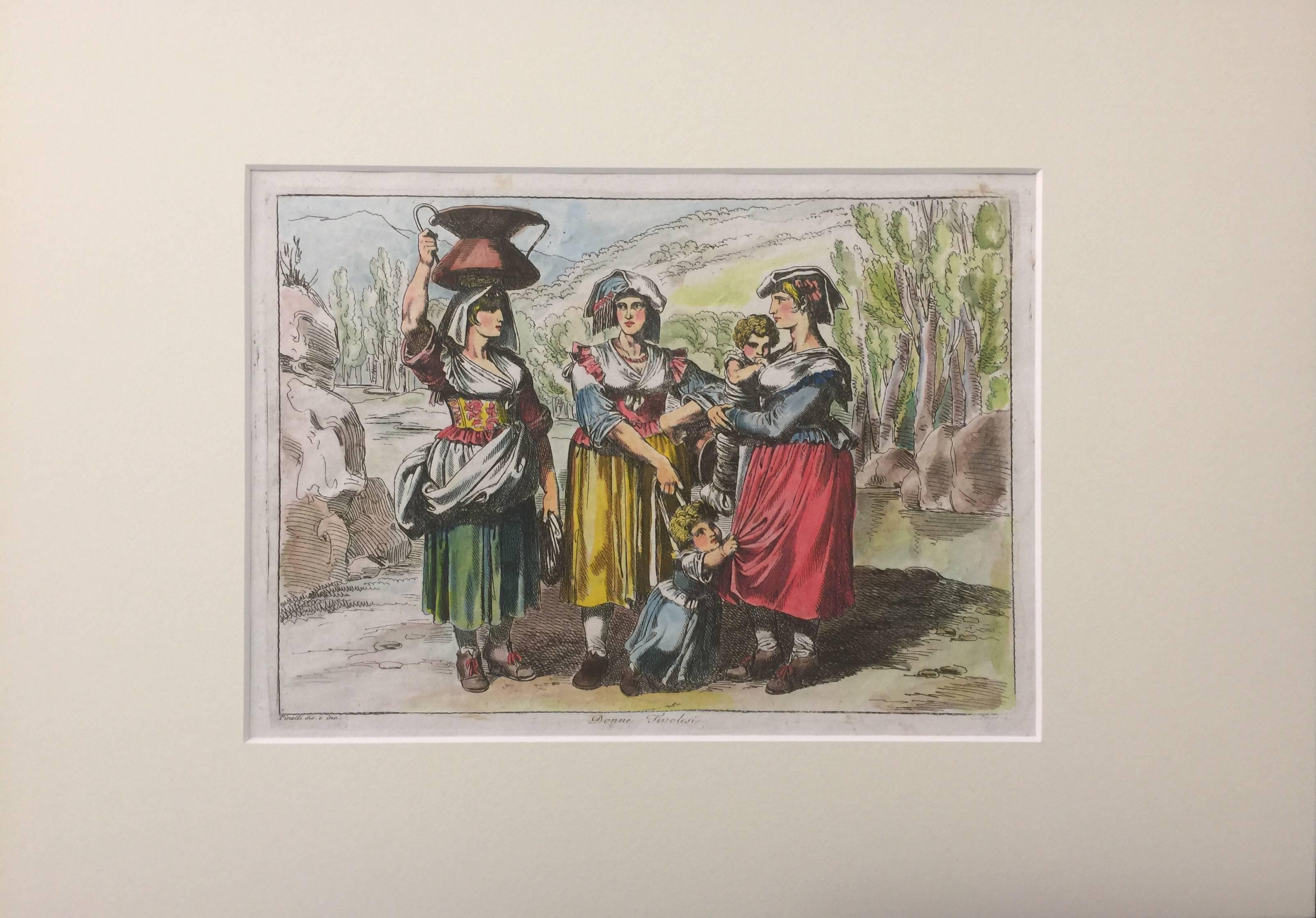 Donne Tirolesi - Original Etching - 1809