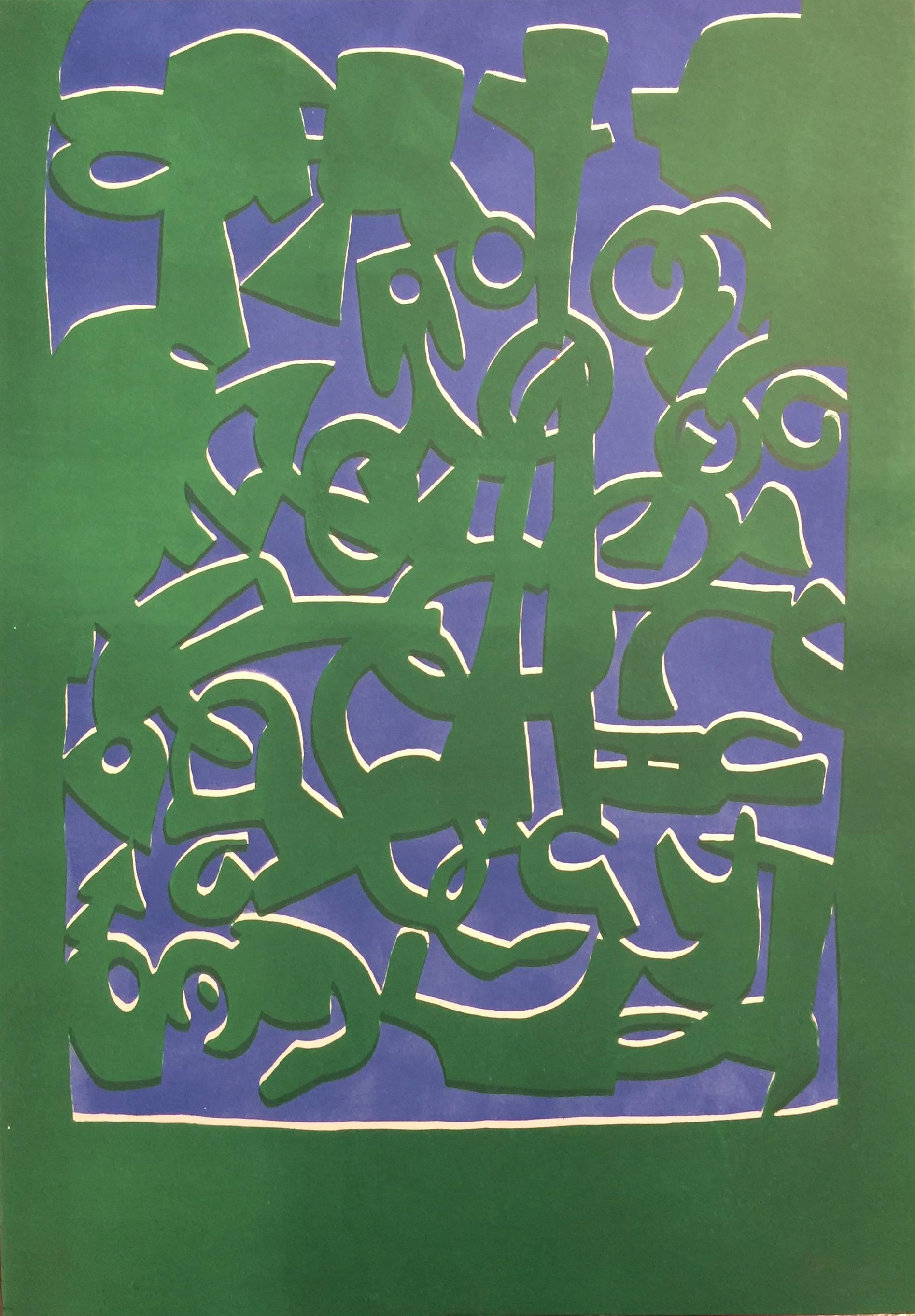Untitled - Original Lithograph 1960