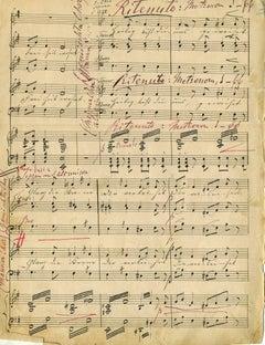 Original Musical Manuscript by Franz Liszt