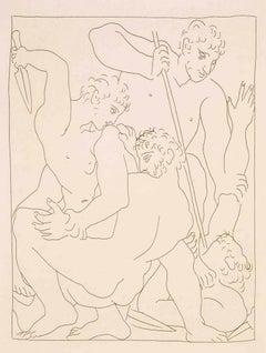 """Combat pour Andromède entre Persée et Phinée - From """"Les Métamorphoses d'Ovide"""""""