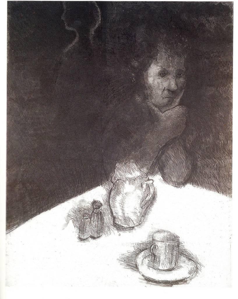 Helen II - Original Etching by George Segal - 1987
