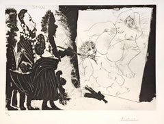 Pablo Picasso - Patron et sa Suite en Visite à l'Atelier