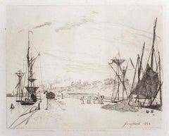 Vue du Port au Chemin de Fer à Honfleur