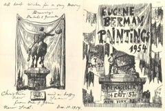 Wonderful Invitation to BERMAN's Exihibition with Drawings